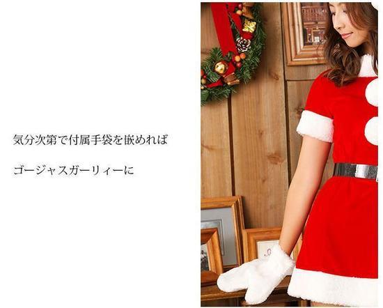 サンタの本格!コスプレ衣装 本格ワンピースのご紹介です。